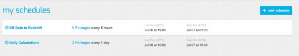 xplenty schedule